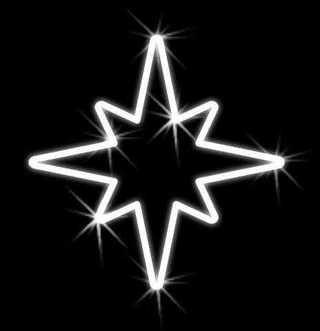 Hviezda vianočná závesná - 500mm x 550mm - OHV07-L