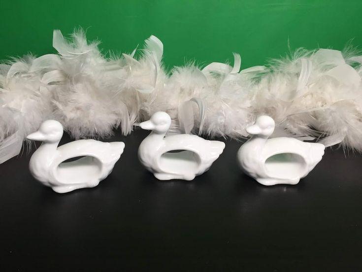set of 3 Duck napkin rings holder, Duck shape napkin rings, table decor, Ducks, white ducks, napkin rings, napkin holders, gifts
