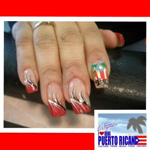 Puerto Rican Pride Finger Nails In China I Once Had My Nails Done