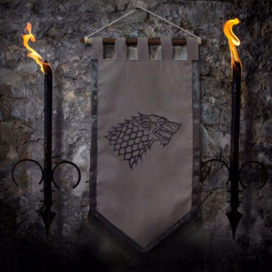 Game of thrones flag curtain house STARK home decor Winter Is Coming gift photo banner Arya Jonh Snow by Oki007 on Etsy https://www.etsy.com/listing/215168744/game-of-thrones-flag-curtain-house-stark