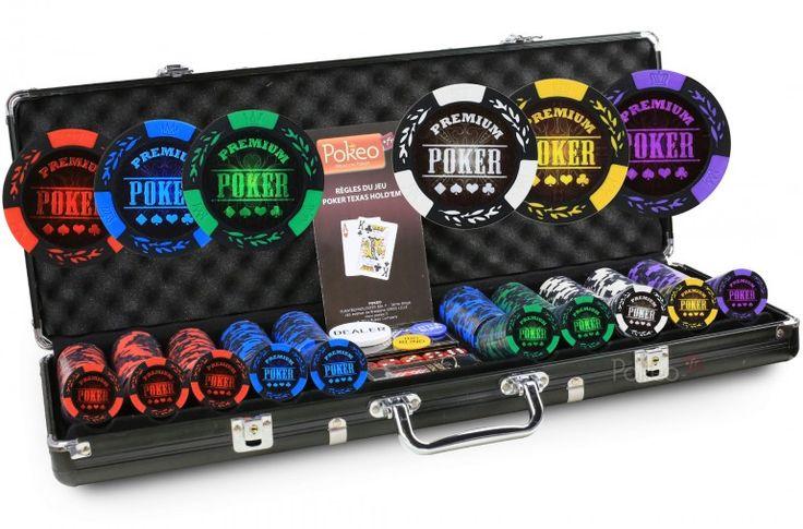Mallette Premium Poker 500 Jetons - Pokeo.fr - Mallette en aluminium de 500  jetons Premium Poker en clay composit 14g + 2 jeux de cartes Pokeo 100% plastique + 1 livret de règles du jeu Pokeo.