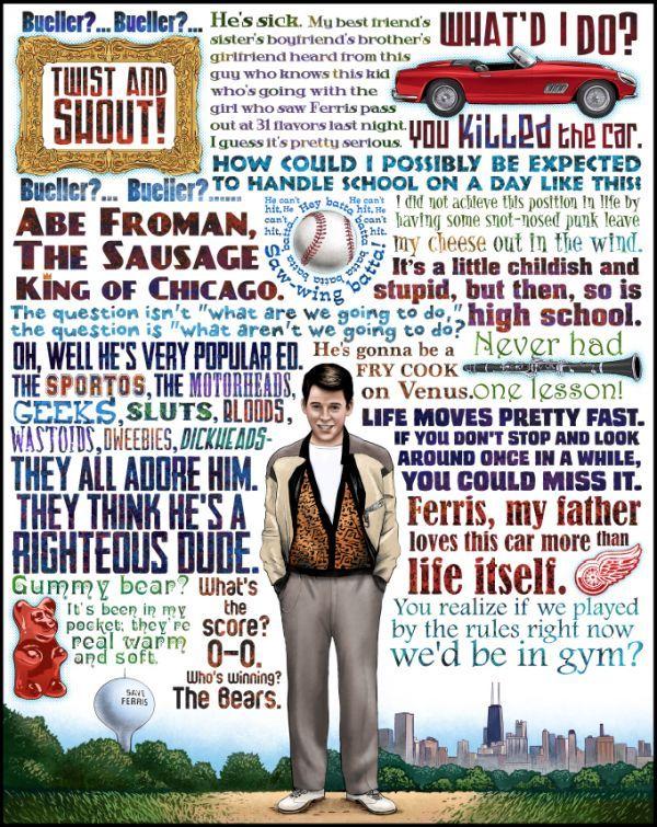 Cool Art: Breaking Bad, Ferris Bueller, Firefly, Princess Bride & Big Lebowski