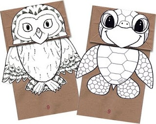 paper bag puppets: Crafts Paper, Paper Bags Crafts, Paper Bag Puppets, Craft Papers, Owl, Kids Crafts, Sea Turtles, 4 Kids, Paper Bags Puppets