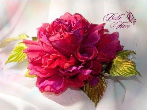 Цветы из шелка. Мастер класс «Пышная роза из шелка» ❤ https://www.youtube.com/watch?v=5q64yscN2w0