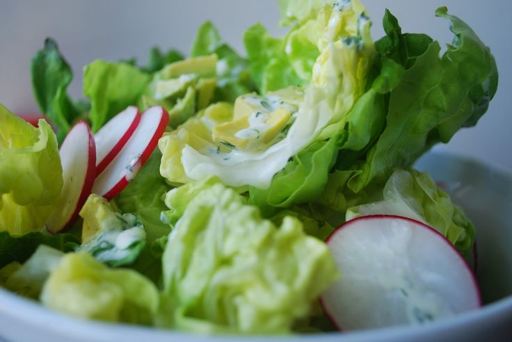 Bibb Lettuce with Radish, Avocado and Creamy Parmesan Dressing