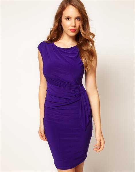 Трикотажное платье с драпировкой