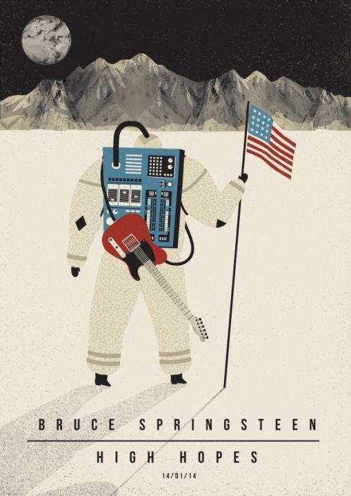 bruce springsteen poster by Dawid Ryski