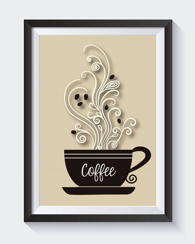 Coffee Cup With Swirls 8x10 Digital Print. ON SALE NOW in my shop for $2.50!! Check it our at the link below!  https://www.etsy.com/listing/269610565/coffee-cup-with-swirls-print-digital  #coffeecupart #kitchenprint #homedecor #kitchenart #quoteart #quoteprint #inspirationalprint #digitalprint #inspirationalquote #etsyshop #etsyseller