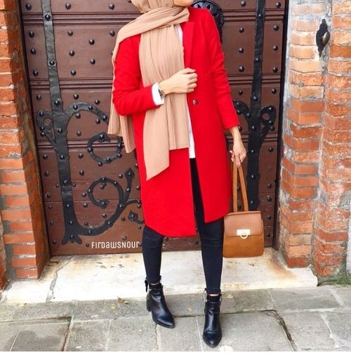 Winter knitted hijab outfits – Just Trendy Girls