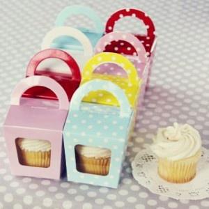 Sweet Treat Tote Box...Individual take-home cupcakes!