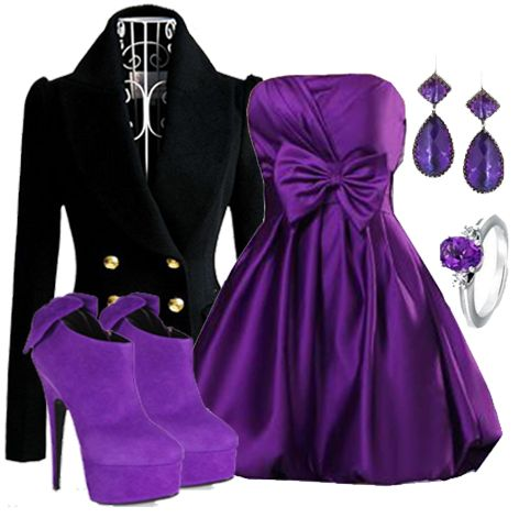 #Purple outfit #fashion