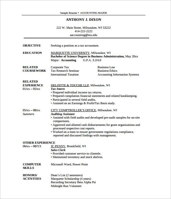 Resume Format 440 Resume Format Business Ethics Science Degree