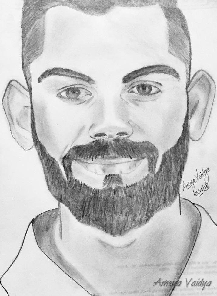 Virat Kohli Pencil Sketch Sketches Art Pencil
