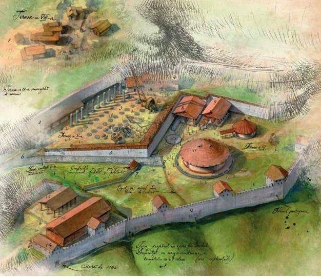 Dacian capital - Sarmizegetusa Regia, by Radu Oltean