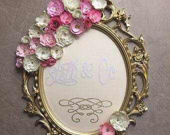 melocotón y oro boda signo color de rosa y oro por oohlalaxevents