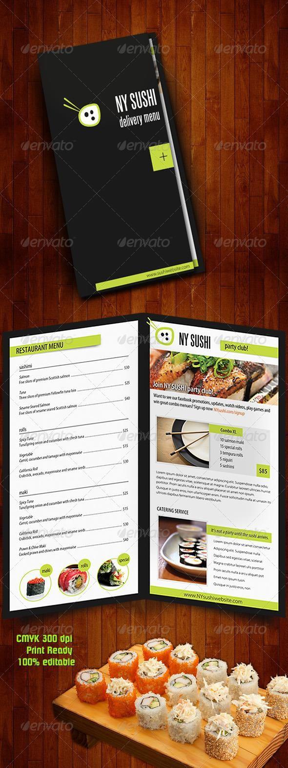 catering menu templates free