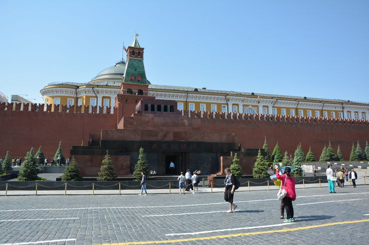 Mausoleum with Lenin at the Red square in Moscow.