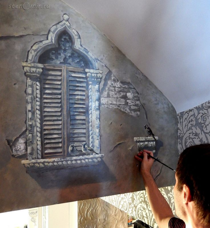 Италия, Венеция на стенах интерьера • Роспись стен / ФОТО