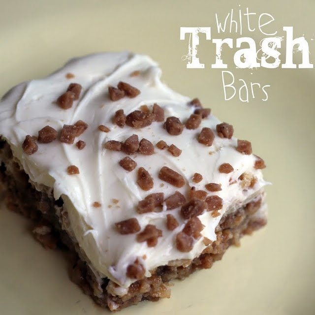 White Trash Bars - Only 4 ingredients! I seriously can't wait to try these!!: Food, Recipes, Whitetrash, Sweet Tooth, White Trash, Trash Bars, Dessert Bars