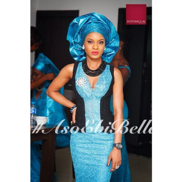 Black Amp Blue Lace Blouse With Blue Lace Skirt Amp Blue Gele African Fashion Ankara Kente