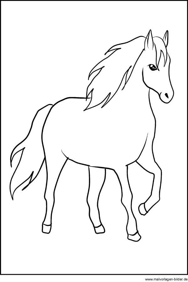 Pferd   Window Color Vorlage   Malvorlagen pferde, Pferde ...