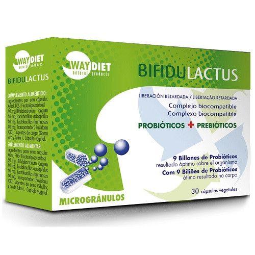 Bifidulactus (Probióticos + Prebióticos) 30 cápsulas Waydiet