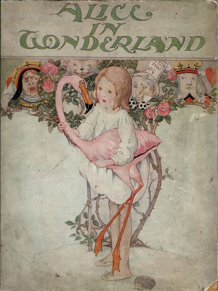 Alice in Wonderland. Year: 1908. Country: UK. Illustrations: T. H. Robinson  Charles Pears. Additional Info: Collins printed edition.