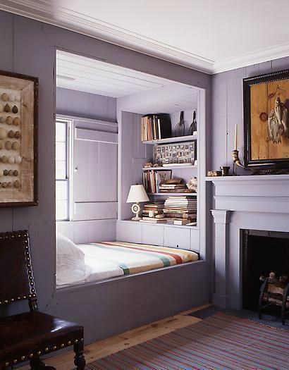 A grey reading nook