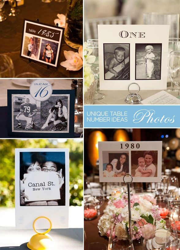 10 Inspired Ideas For Wedding Table Numbers