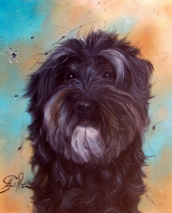 Custom Pet Portrait Original Oil paintingDog painting Pet