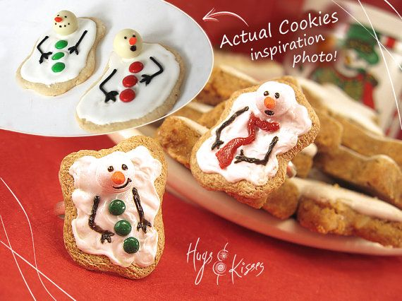 Christmas Melting Snowman Cookie Rings by HugsKissesMINI