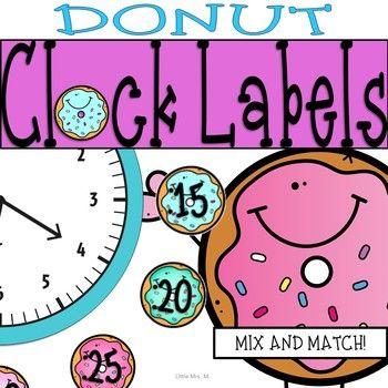 Donut-Zeitschaltuhr-Etiketten: Donut-Klassenzimmer-Themadekor