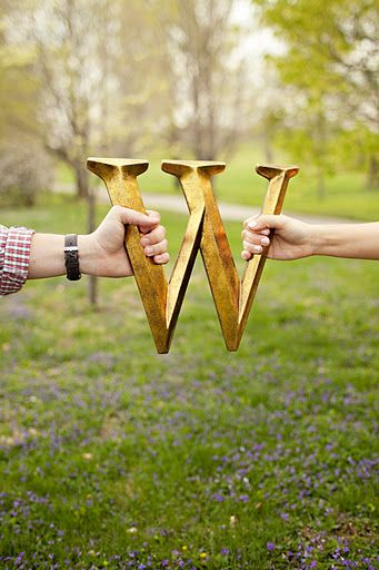 Great & Cheap Prop from Hobby Lobby we used for my sister's engagement pictures! Very Classy!