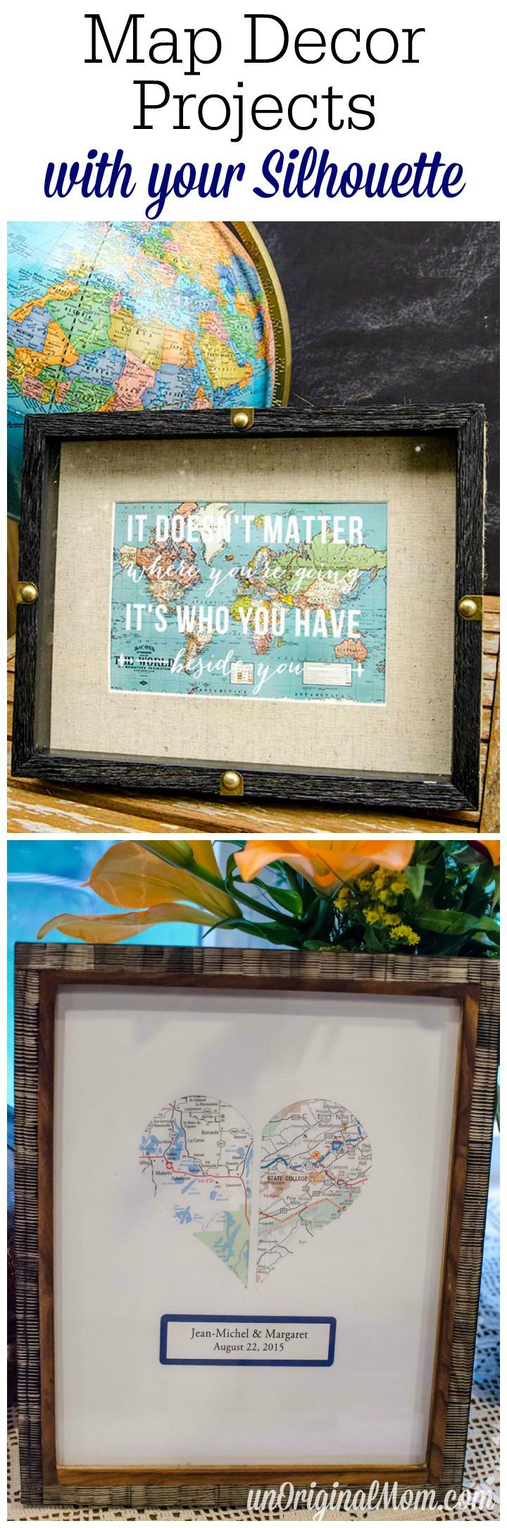 Map Themed Decor with your Silhouette 241