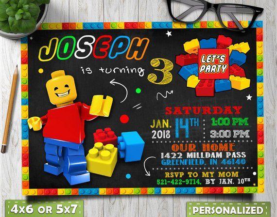 lego birthday invitations  lego party invitations  lego