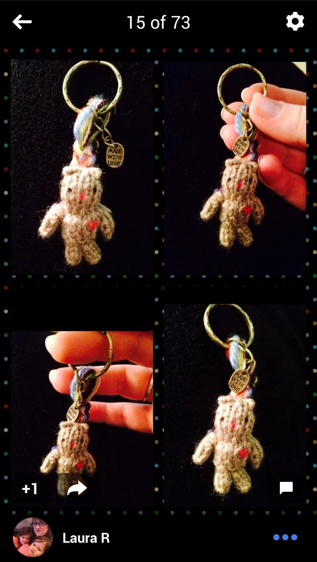 Little love bear Keyring x