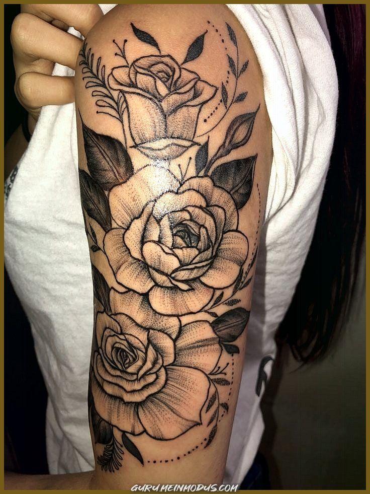 Rosen frauen oberarm tattoo Tattoo Oberarm