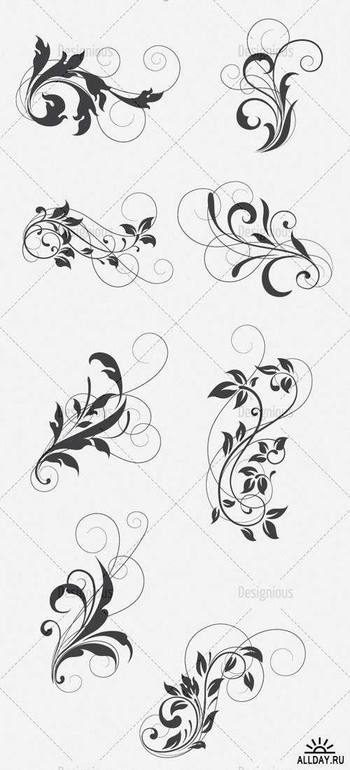 Vector Floral Set 128