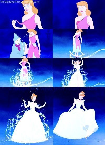 Cinderella's transformation | Disney | Pinterest