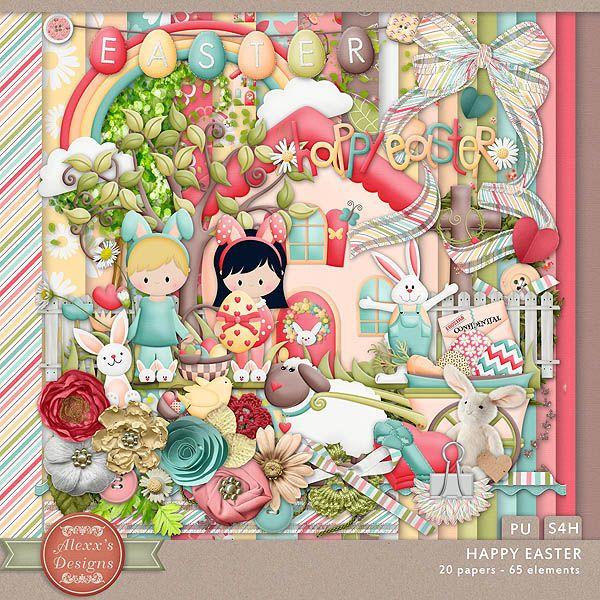 Happy Easter Kit by Alexx's Designs
