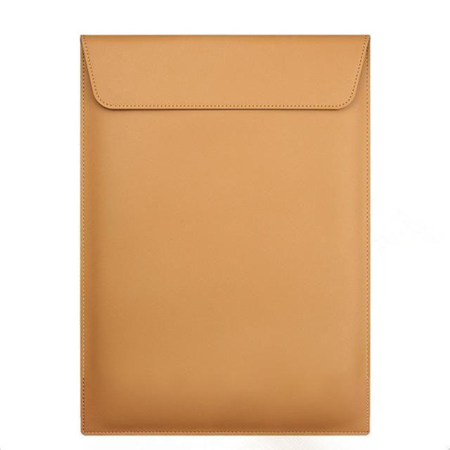 "BinFul Fashion PU Leather Notebook Sleeve Bag Waterproof Protector Case for Macbook 11"" 12"" 13"" 15"" Macbook Air Laptop Carry Bag"