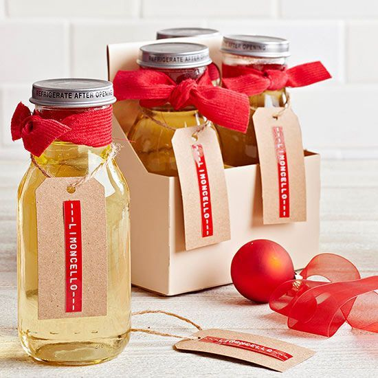 Party Type: Cocktail or Italian dinner party Forget lemonade -- when life gives you lemons, make limoncello! The lively crew in your life will love its fragrant, cool flavor, made with only four ingredients. Make it party-ready by pouring it into a screw-top jar, tying it with a fabric bow, and adorning it with an old-school manila tag.