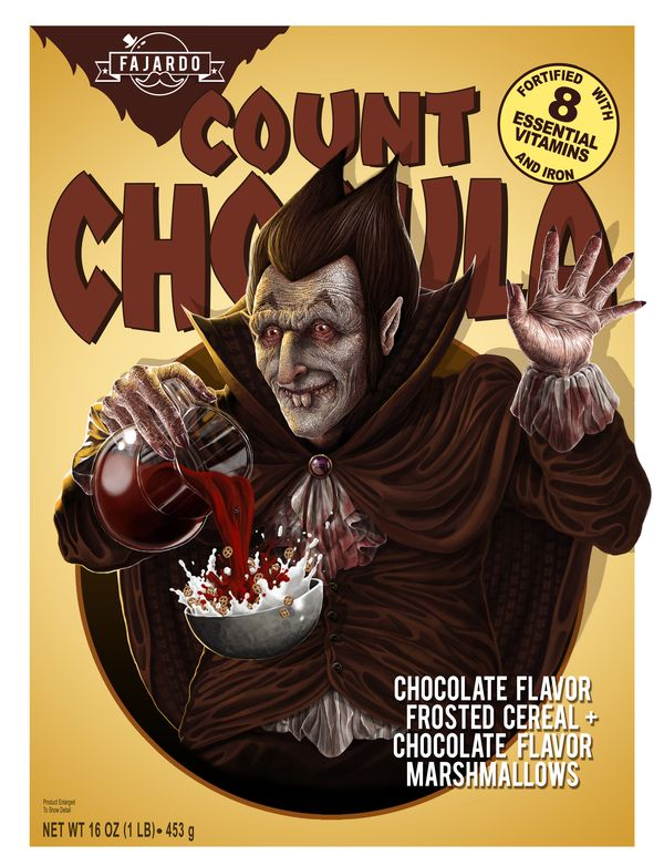 Count - Cereal series by Guillermo Fajardo, via Behance