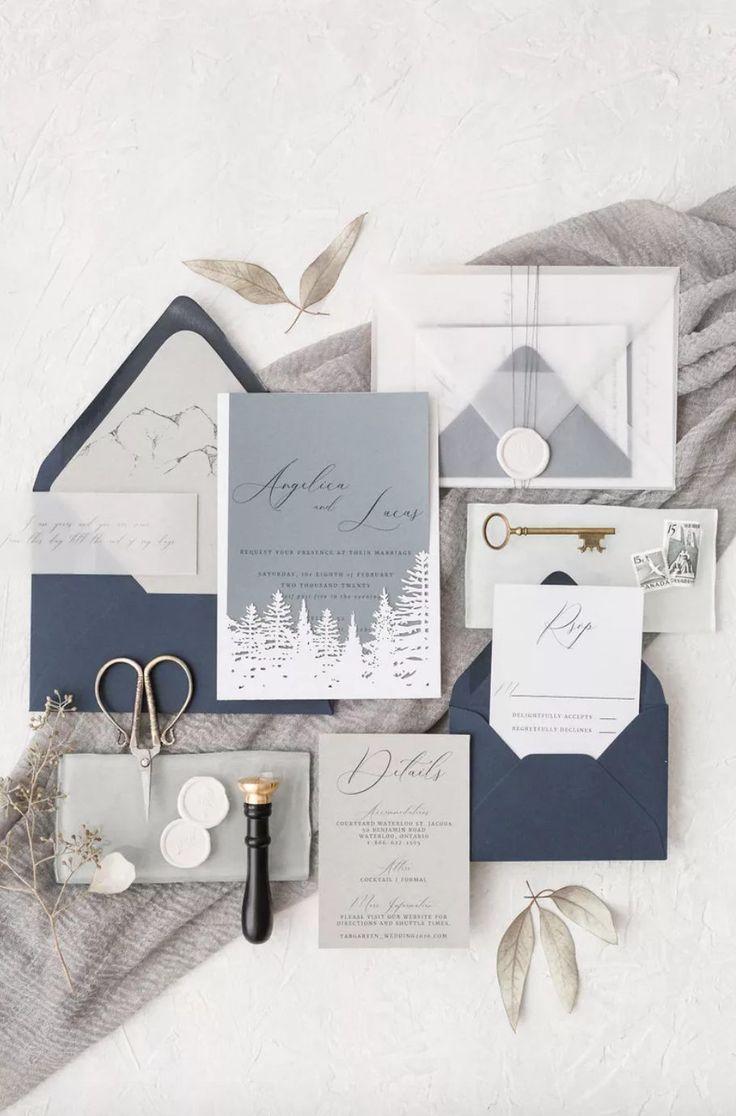 16 Unique Invitation Ideas For A Dreamy Winter Wedding In 2020 Winter Wedding Invitations Winter Invitations White Winter Wedding