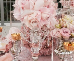 : Wedding Tables, Pink Wedding, Pink Flowers, Vintage Wedding, Tables Sets, Flowers Centerpieces, Blushes Pink, Soft Pink, Pink Rose