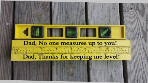 Level Father's Day Level Personalized Level by CraftsFromKentucky