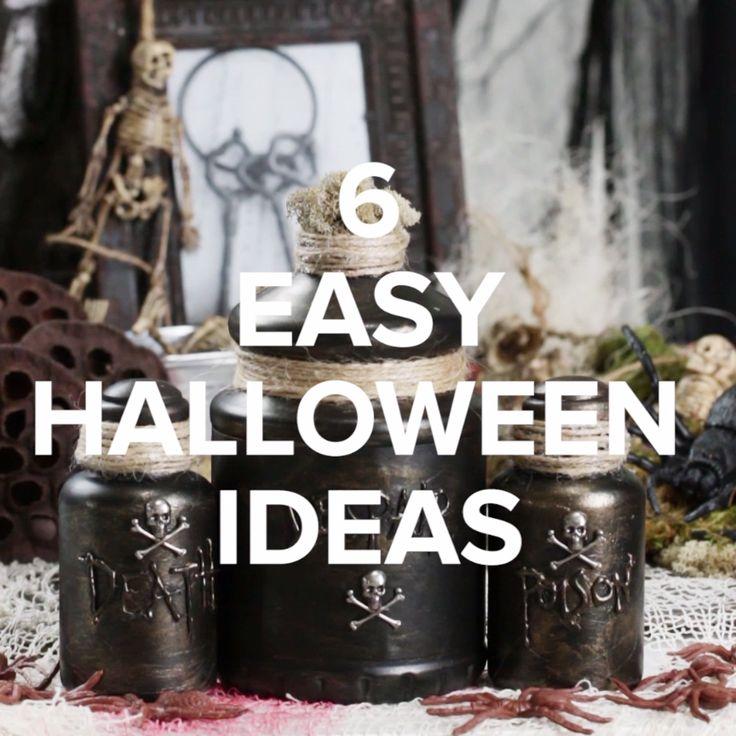 6 Easy Halloween Ideas // #halloween #halloween2017 #halloweenfood #halloweendecor #nifty #diy