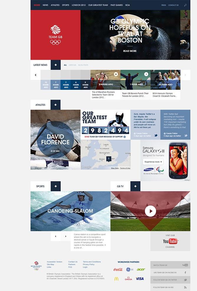 Team GB homepage by Pirata