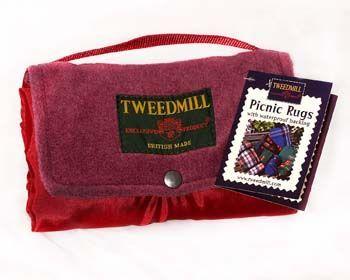 Tweedmill Plain Or Printed Fleece Walker Companion Wine Picnic Rugs Textiles Of Wales