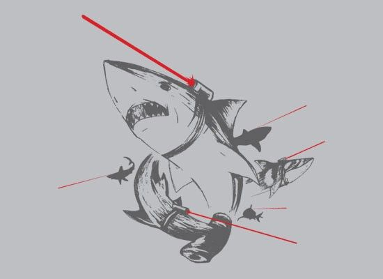 Sharks With Lasers T-Shirt | SnorgTees